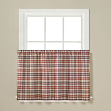 jcpenney.com | London Plaid Rod-Pocket Window Tiers