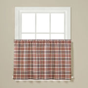 London Plaid Rod-Pocket Window Tiers
