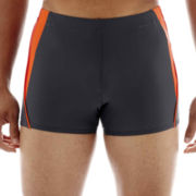 Speedo® Fitness Splice Square-Leg Swim Trunks