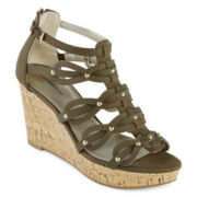 Liz Claiborne® Karmin Wedge Sandals