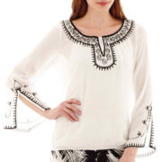Alyx® Long-Sleeve Embroidered Peasant Blouse
