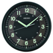 Seiko® Wall Clock With Quiet Sweet Second Hand Black Qxa628krh