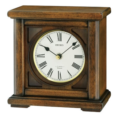jcpenney.com | Seiko® Brown Desk/Table Clock With 12 Hi-Fi Melodies And Chime Qxw237blh