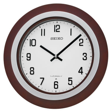 jcpenney.com | Seiko® Brown Wall Clock With 18 Hi-Fi Melodies Qxm547blh