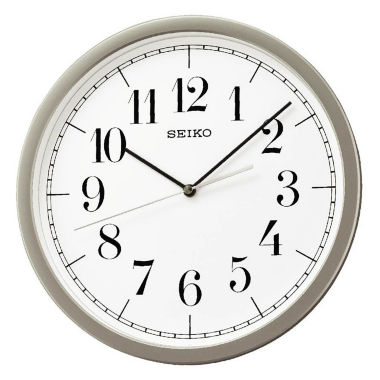 jcpenney.com | Seiko® White Dial Wall Clock With Silver-Tone Case Qxa636slh