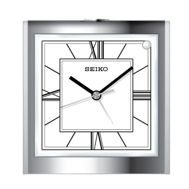 jcpenney.com | Seiko® Bedside Alarm With Beep Alarm And Dial Light Silver Tone Clock Qhe123slh