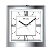 Seiko® Bedside Alarm With Beep Alarm And Dial Light Silver Tone Clock Qhe123slh