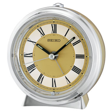 jcpenney.com | Seiko® Two Tone Metallic Case Bedside Alarm ClockQhe132glh