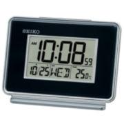 Seiko® Digital Bedside Dual Alarm Clock Black Qhl068klh