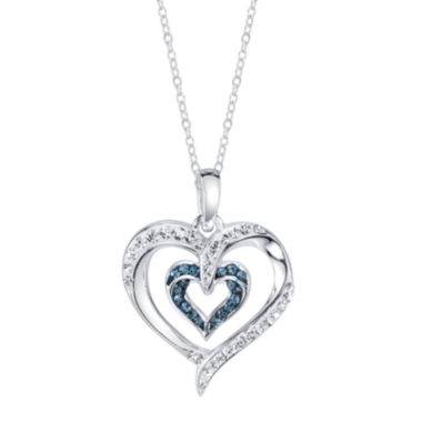 jcpenney.com | Crystal Sophistication™ Silver-Plated Brass Double Heart Necklace