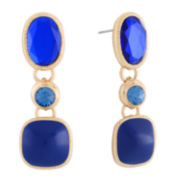 Monet® Blue and Gold-Tone Linear Earrings