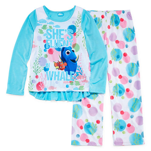 Finding Dory 2-pc. She's Fluent in Whale Pajama Set - Girls 7-16