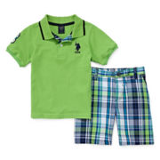 U.S. Polo Assn.® 2-pc. Polo and Shorts Set - Toddler Boys 2t-5t