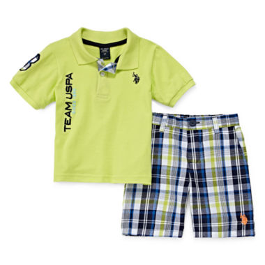 jcpenney.com | U.S. Polo Assn.® 2-pc. Polo and Shorts Set - Toddler Boys 2t-5t