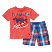 U.S. Polo Assn.® 2-pc. Tee and Shorts Set - Toddler Boys 2t-5t