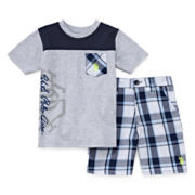 U.S. Polo Assn.® 2-pc. Tee and Plaid Shorts Set - Toddler Boys 2t-5t