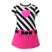 Lilt Striped Belted Dress - Toddler Girls 2t-4t