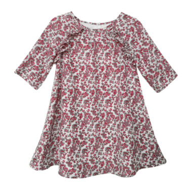 jcpenney.com | Marmelatta Long-Sleeve Print Dress - Toddler Girls 2t-4t