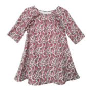 Marmelatta Long-Sleeve Print Dress - Toddler Girls 2t-4t