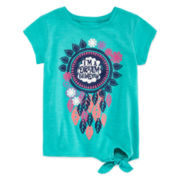 Arizona Short-Sleeve Side-Tie Tee - Preschool Girls 4-6x