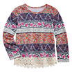 Arizona Long-Sleeve Crochet Trim Top - Preschool Girls 4-6x