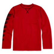 Xersion™ Long-Sleeve Waffle-Weave Top - Boys 8-20