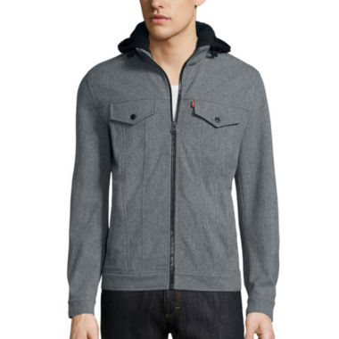 jcpenney.com | Levi's® Hooded Soft Shell Trucker Jacket