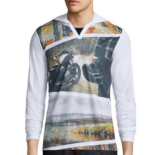 i jeans by Buffalo Long-Sleeve Catrykio Hooded Knit Cotton Shirt