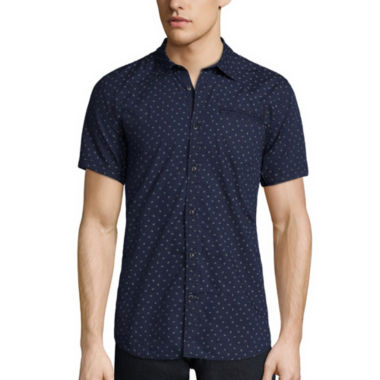 jcpenney.com | i jeans by Buffalo Short-Sleeve Mick Woven Cotton Shirt