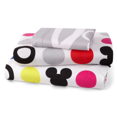 jcpenney.com | Disney Collection Mickey Mouse Chevron Sheet Set