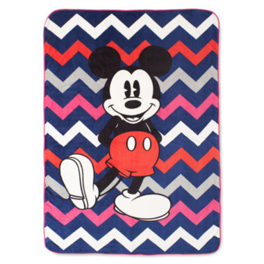 jcpenney.com | Disney Collection Mickey Mouse Chevron Blanket