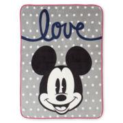 Disney Collection Mickey Mouse Plush Throw