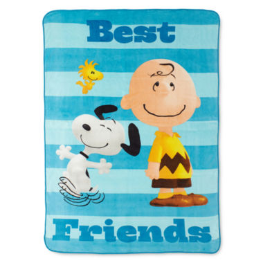 jcpenney.com | Peanuts Sunny Day Fleece Blanket