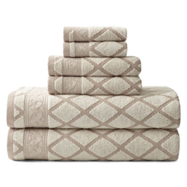 jcpenney.com | Royal Velvet® Diamond Jacquard 6-pc. Towel Set