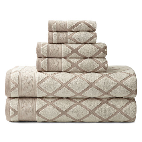 Royal Velvet® Diamond Jacquard 6-pc. Towel Set