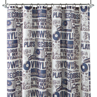 jcpenney.com | Home Expressions™ Vinyl Records Shower Curtain Set