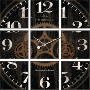 FirsTime® Gears Studio Wall Clock