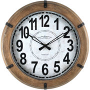 FirsTime® Modern Rustic Wall Clock