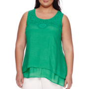 Alyx® Sleeveless Crochet Top - Plus