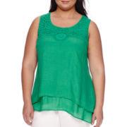 Alyx® Sleeveless Crochet Top - Plus