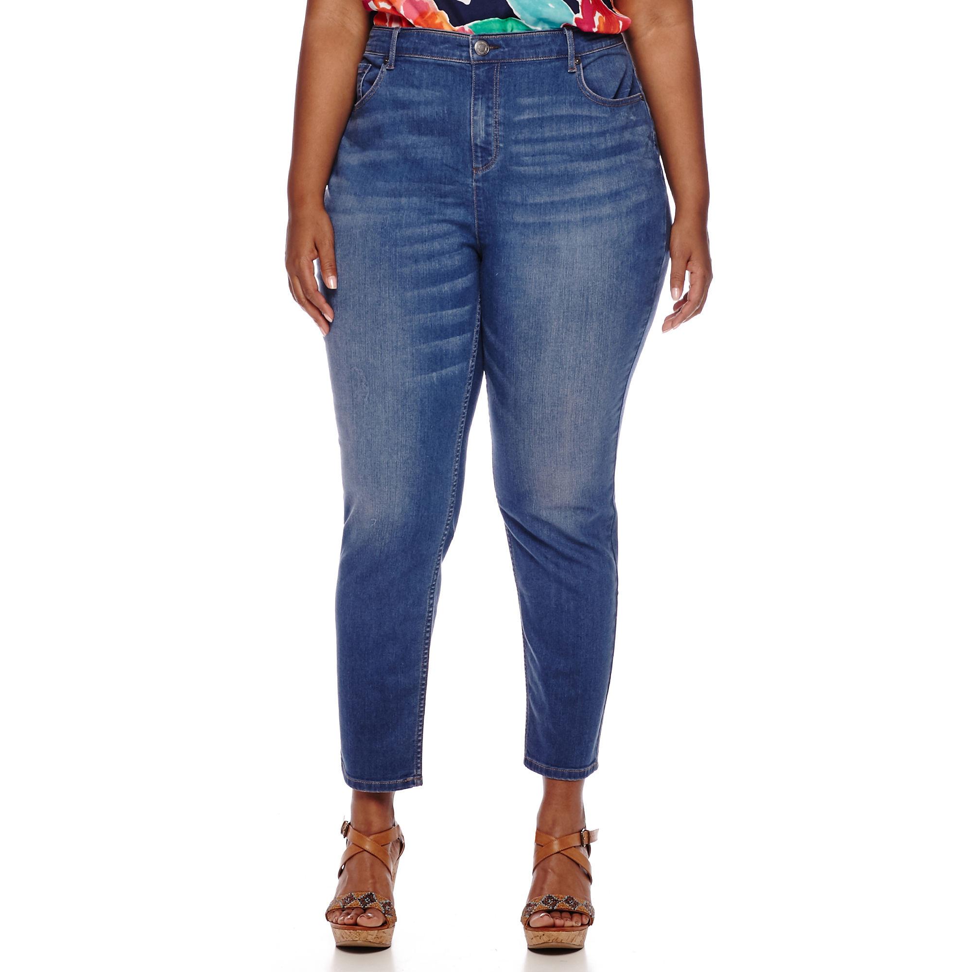Liz Claiborne Classic-Fit Skinny Ankle Jeans - Plus