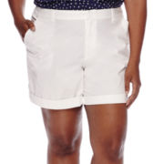 Liz Claiborne® Roll-Cuff Shorts - Plus