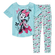 Disney Collection 2-Pc. Pink Minnie Cap-Sleeve Pajama Set