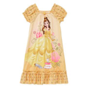 Disney Collection Belle Short-Sleeve Nightshirt - Girls 2-10
