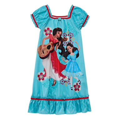 jcpenney.com | Disney Collection Elena Short-Sleeve Nightshirt - Girls 2-10