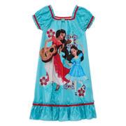 Disney Collection Elena Short-Sleeve Nightshirt - Girls 2-10
