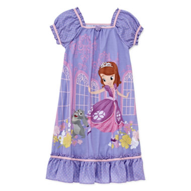 jcpenney.com | Disney Collection Sofia Short-Sleeve Nightshirt - Girls 2-8