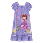 Disney Collection Sofia Short-Sleeve Nightshirt - Girls 2-8