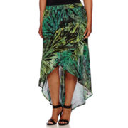 a.n.a® Cross-Front Maxi Skirt - Plus