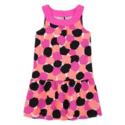 Okie Dokie® Sleeveless Printed Yoke Dress - Toddler Girls 2t-5t
